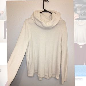White cozy turtleneck sweater